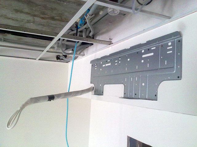 Установка внутреннего блока кондиционера